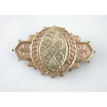 Ornate Victorian Rolled Gold Pin/Brooch
