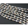 """Pair of 36"""" Rice Pearl Necklace Strands - Peacock, Gray, Blush Pink  and White"""