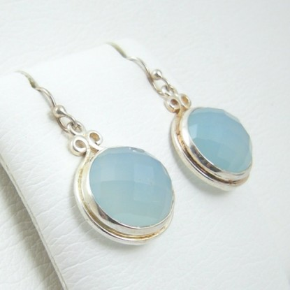 Chalcedony French Wire Sterling Silver Earrings