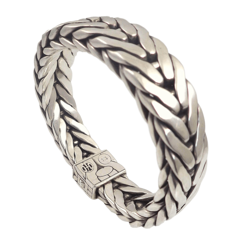John Hardy Mens Modern Chain Sterling Silver Band Ring WBrgwWVjM