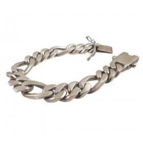 Heavy Pre-Owned Men's 13mm Figaro Link Biker Bracelet