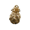 14k Yellow Gold 3D Hawaiian Pineapple Charm