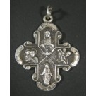 Creed Vintage Silver Cruciform Four-Way Religious Devotional Medal