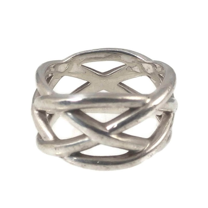 Tiffany Amp Co Pre Owned Sterling Silver Braided Weave Knot