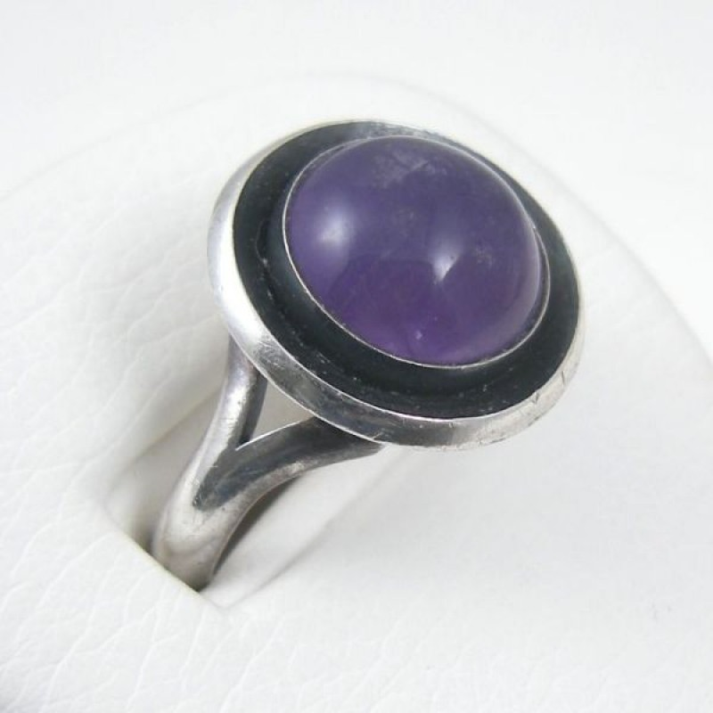 Nils Erik N E From Modernist Amethyst Sterling Silver Ring