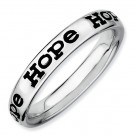 Stackable Expressions Enameled Sterling Silver Hope Ring