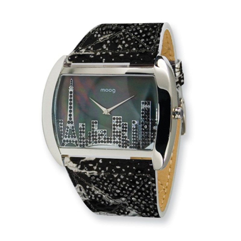 Black mop skyline moog paris france fashionista ladies watch for Watches of france