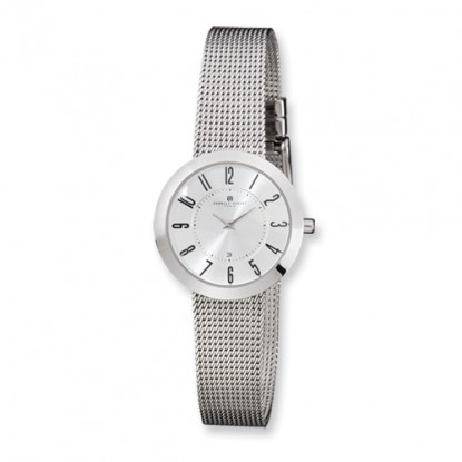 Ladies Charles Hubert Stainless Steel Silver Dial Milanese Band Watch