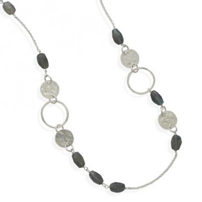 Endless Labradorite Bead and Sterling Silver Necklace