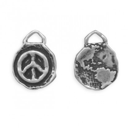 Oxidized Reversible Peace Charm