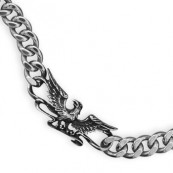 Men's Eagle Stainless Steel Curb Chain Bracelet
