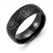 Titanium Black IP-Plated Hammered 8mm Band