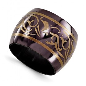 Wide Domed Edward Mirell Black Titanium Anodized Copper Wedding Band