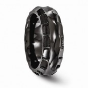 Edward Mirell 8mm Black Ti Titanium Templar Ring