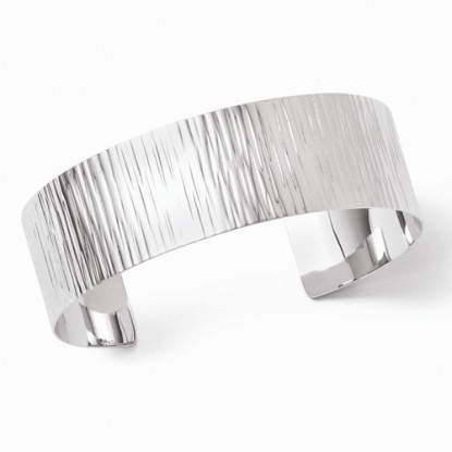 Leslie's Sterling Silver Cuff Bracelet with Soft Rippling Wave Texture