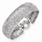 Wide Leslie's Sterling Silver Textured Wire-Wrapped Bracelet