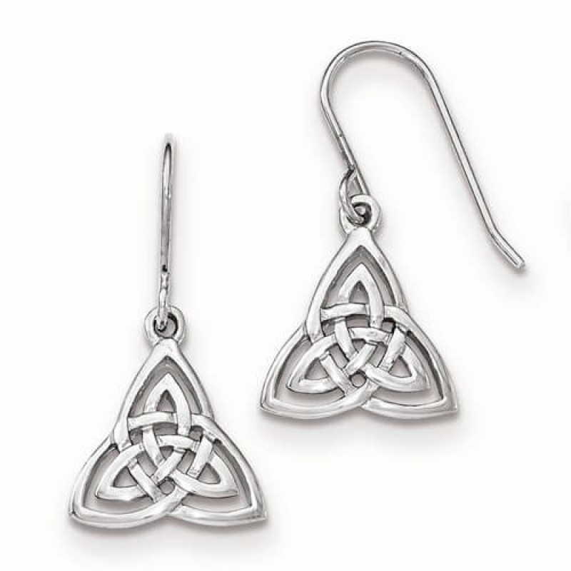 celtic knotwork earrings celtic knot dangle sterling silver earrings 6594