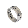 Animal Paw Print Unconditional Love Sterling Silver Ring