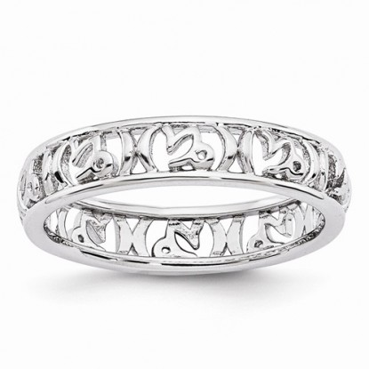 Capricorn Stacking Sterling Silver Zodiac Ring - Stackable Expressions