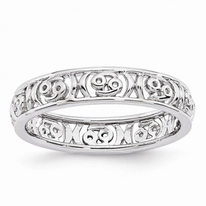 Cancer Stacking Sterling Silver Zodiac Ring - Stackable Expressions