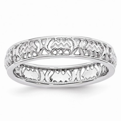 Aquarius Stacking Sterling Silver Zodiac Ring - Stackable Expressions