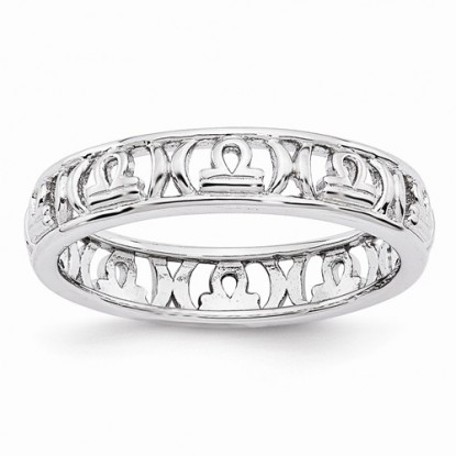Libra Stacking Sterling Silver Zodiac Ring - Stackable Expressions