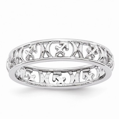 Sagittarius Stacking Sterling Silver Zodiac Ring - Stackable Expressions