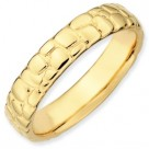 Cobblestone 18k GP Sterling Silver Stackable Expressions Ring
