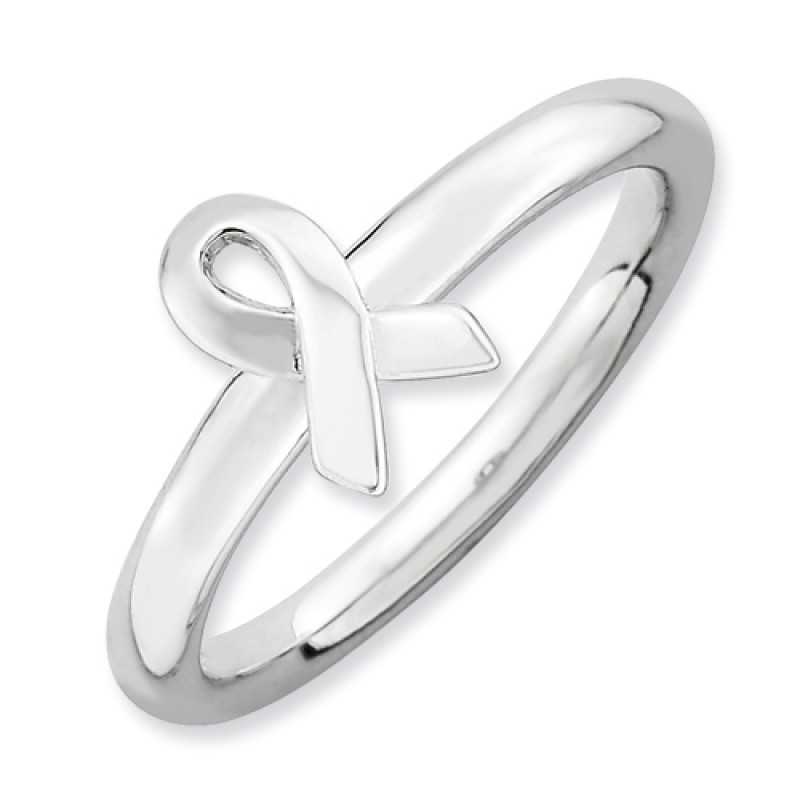 sterling silver awareness ribbon stackable expressions ring
